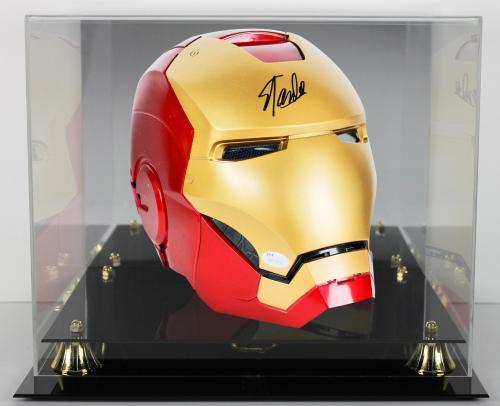 Stan Lee Signed Marvel Iron Man Legends Series Helmet w/ Box & Case JSA Witness