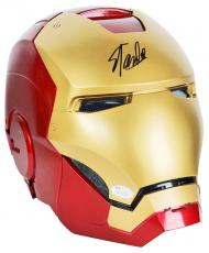 Stan Lee Signed Marvel Iron Man Legends Series Helmet w/ Box JSA Witness