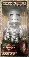 Stan Lee Signed Marvel IRON MAN Mark 1 Armor Bobble Head W/ Stan Lee Hologram