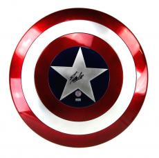 Stan Lee Signed Marvel Legends Captain America Premium Full Size Shield