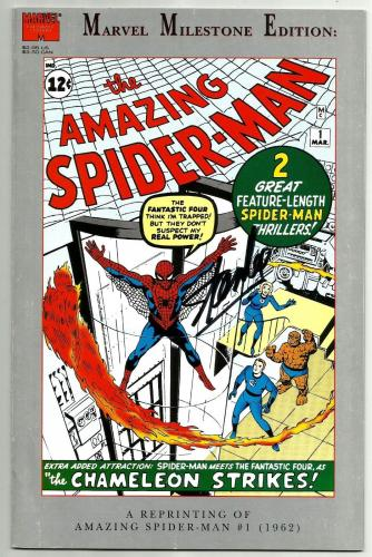 Stan Lee Signed Marvel Milestone Amazing Spiderman #1 Comic W/ Stan Lee Hologram