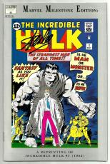 Stan Lee Signed Marvel Milestone Incredible Hulk #1 Comic W/ Stan Lee Hologram