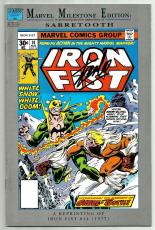 Stan Lee Signed Marvel Milestone Iron Fist #14 Comic W/ Stan Lee Hologram