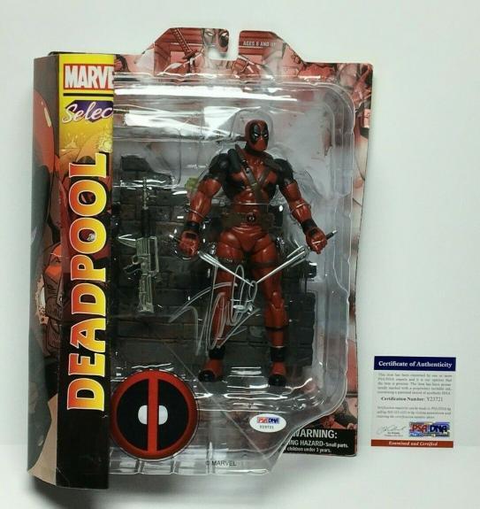 Stan Lee Signed Marvel Select Deadpool Action Figure PSA Y23832