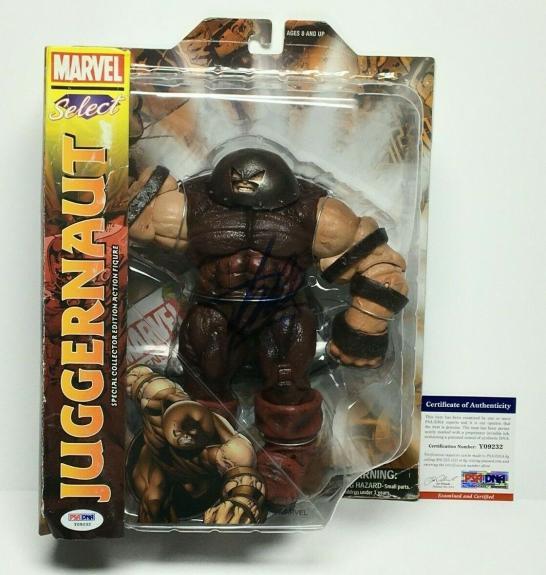 Stan Lee Signed Marvel Select Juggernaut Action Figure PSA Y09232