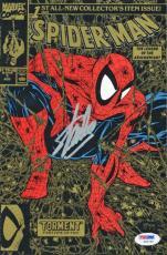 Stan Lee Signed Marvel Spider-Man #1 Comic Book Torment 1990 Gold Cover PSA/DNA