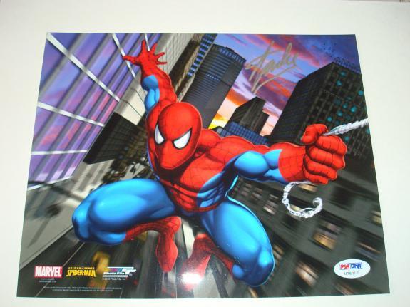Stan Lee Signed Marvel Spider-Man 8x10 Photo PSA/DNA Autographed #1