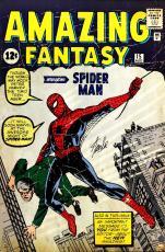Stan Lee Signed Marvel Spider-Man Amazing Fantasy Full Size Poster