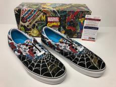 Stan Lee Signed Marvel Spider-Man Vans Sneakers *Comic Book *Skate Shoes PSA