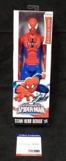 Stan Lee Signed Marvel Spiderman Titan Hero Action Figure Psa/dna W27805 + Holo