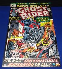 Stan Lee Signed Marvel: Spotlight On Ghost Rider 24x36 Poster - PSA/DNA # W59710