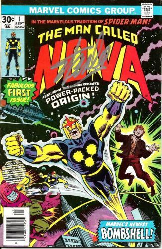 Stan Lee Signed Marvel The Man Called Nova #1 Comic W/ Stan Lee Hologram