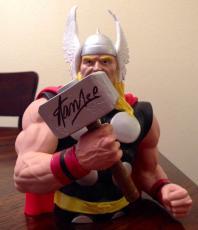 Stan Lee Signed Marvel Thor Plastic Bust Piggy Bank W/ Stan Lee Hologram