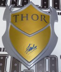Stan Lee Signed Marvel THOR Shield Toy PSA/DNA COA Autograph Avengers Comic Book