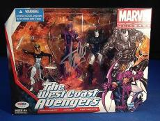 Stan Lee signed Marvel Universe The West Coast Avengers Figures PSADNA  #Y10276