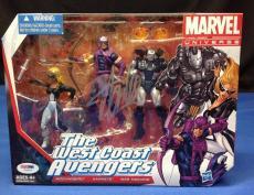 Stan Lee signed Marvel Universe The West Coast Avengers Figures PSA/DNA  #Y10277