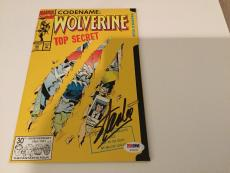 Stan Lee Signed Marvel Wolverine Top Secret Comic Book PSA/DNA COA Autographed