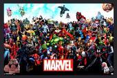 Stan Lee Signed Marvels Universe Full Size Framed Poster