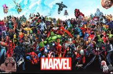 Stan Lee Signed Marvels Universe Full Size Poster