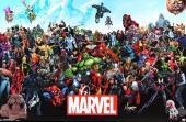 Stan Lee Signed Marvels Universe Full Size Poster