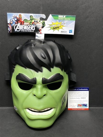 Stan Lee Signed Marvel:The Incredible Hulk Hero Mask *Avengers PSA X60637
