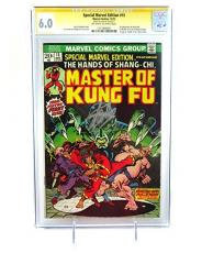 Stan Lee Signed Master of Kung Fu Special Marvel Edition #15 CGC 6.0