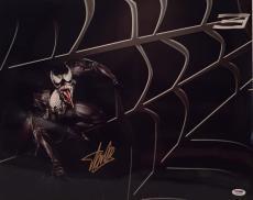 Stan Lee Signed Metallic/Chrome Venom 16x20 Photo *Spider-Man *Marvel PSA