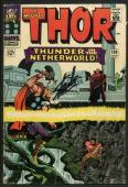 Stan Lee Signed Mighty Thor #130 Comic Book Thunder In Netherworld PSA #W18685