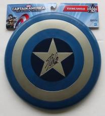 Stan Lee Signed Mini Captain America Shield Stan Lee Personal Hologram + SI