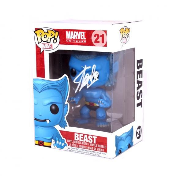 Stan Lee Signed Funko Pop! Marvel X-Men Beast #21 In-Box Action Figure