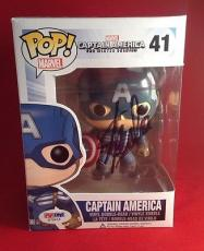 Stan Lee signed POP Marvel Captain America Bobble-Head Figure PSADNA  #X72415