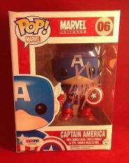 Stan Lee signed POP Marvel Captain America Bobble-Head Figure PSADNA  #X72565