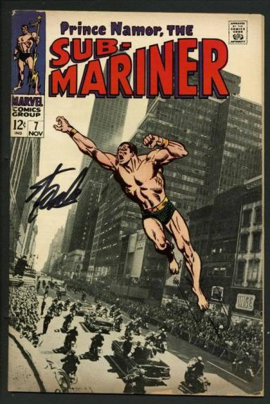 Stan Lee Signed Prince Namor The Sub-Mariner #7 Comic Book 1968 PSA/DNA #W18846
