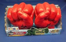 Stan Lee signed Red Hulk 1 Pair Smash Fist PSADNA LOA # W05565