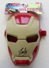 Stan Lee Signed Red Mini Iron Man Mask Stan Lee Personal Hologram + SI