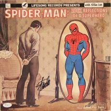 "STAN LEE Signed ""Rock Reflections Of A Superhero"" Album LP JSA #P12409"