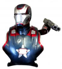 Stan Lee Signed Sideshow Collectibles Marvel Iron Man Iron Patriot Life-Size Light Up Bust