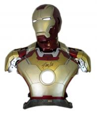 Stan Lee Signed Sideshow Collectibles Marvel Iron Man Mark 42 Life-Size Light Up Bust