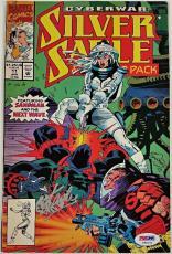 STAN LEE Signed Silver Sable Cyberwar Ft.Sandman & Next Wave Comic #11  PSA/DNA
