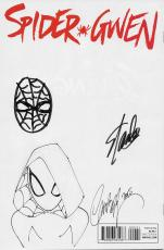 Stan Lee Signed Spider-gwen Variant Comic W/hand Drawn Spider-man Sketch Jsa Coa