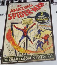 Stan Lee Signed Spider-Man #1 Comic Book 20x28 Poster PSA/DNA COA Marvel Auto'd