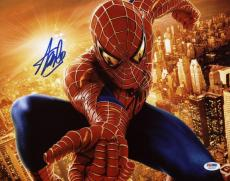 Stan Lee Signed Spider-Man 11X14 Photo Marvel Comics PSA/DNA 10