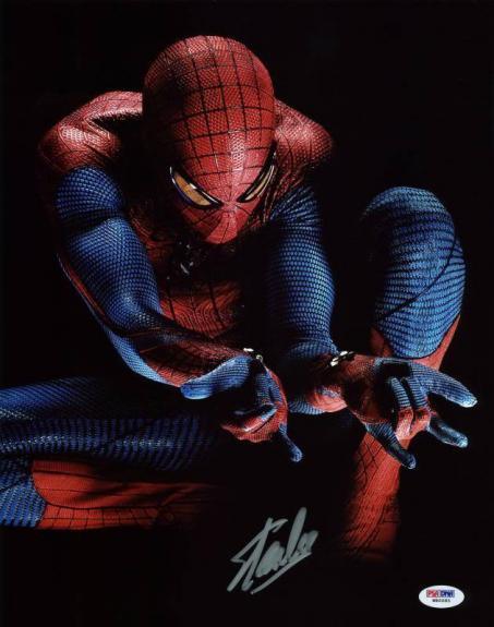 Stan Lee Signed Spider-Man 11X14 Photo Marvel Comics PSA/DNA 2