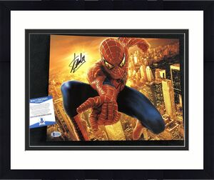 Stan Lee Signed Spider-Man 2 11x14 Photo Beckett Authenticated Marvel Avengers