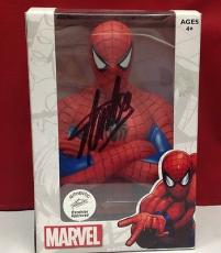 Stan Lee signed Spider Man Coin Bank w/ Stan Lee Hologram