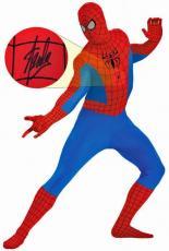 Stan Lee Signed Spider-Man Costume W/ Stan Lee Hologram & PSA/DNA
