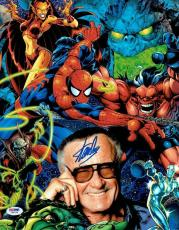 Stan Lee Signed Spider-Man Marvel Comics Authentic 11x14 Photo PSA/DNA #4