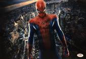 Stan Lee Signed Spider-Man Metallic/Chrome 15x10 Photo *Marvel PSA X05332