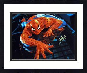Stan Lee Signed Spiderman 16x20 Photo