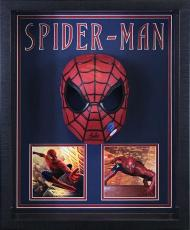 Stan Lee Signed Spiderman Mask with Photos Shadowboxed
